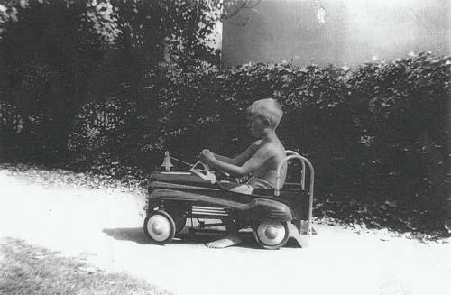 Ivan in his Toy Fire Truck